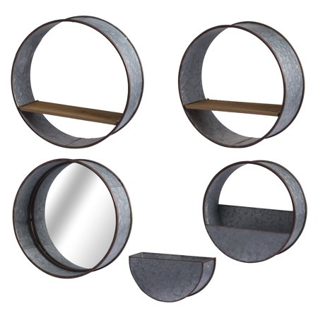 A & B Home Zale Round Metal Wall Planters - Set of (Wall Planter)