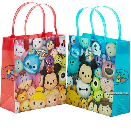 "Tsum Tsum Authentic Licensed 12 Party Favor Reusable Goodie Medium Gift Bags 8"""