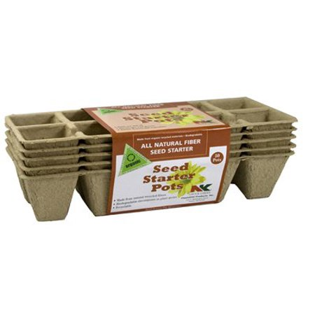 FS110 Seed Starter Pots (10 Pot, 5 Strips Per Pack, 50 Total), 5 Strips of 10 square pots By -