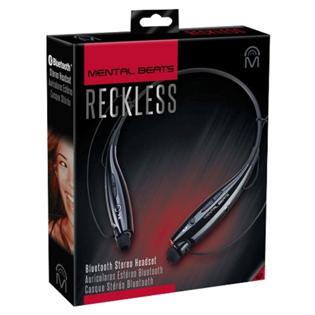 Mental Beats 547 Mental Beats Reckless Bluetooth Earbuds, Black