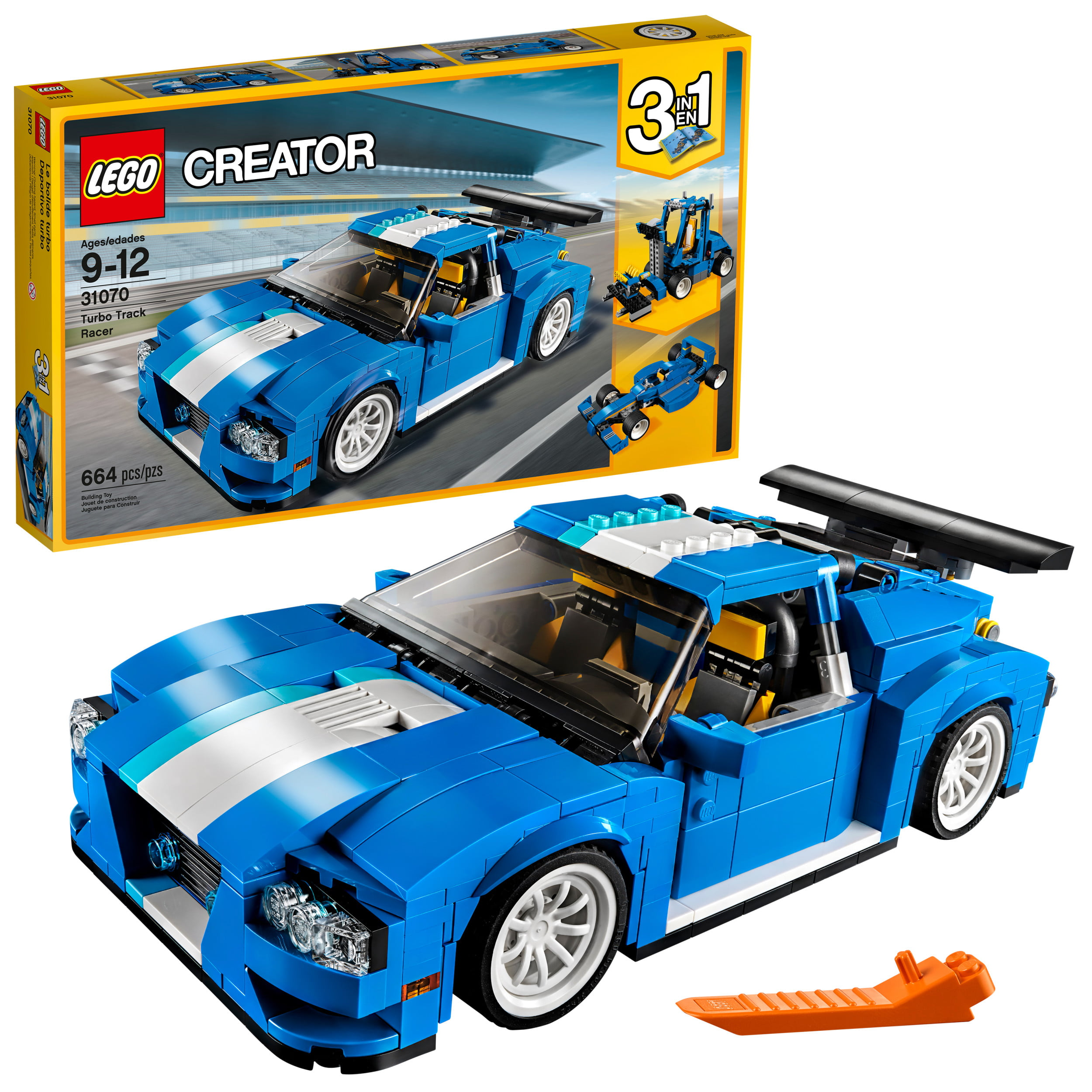 Creator Racer Track Lego 31070 Building Set664 Turbo Pieces KTuFJcl315