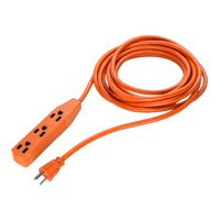 US Plug to 3 Outlets Extension Cord Cable 13A 16AWG SJTW 16Ft Medium Duty Orange