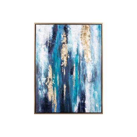 Signature Design by Ashley Dinorah Abstract Teal Blue Framed Wall Art ()