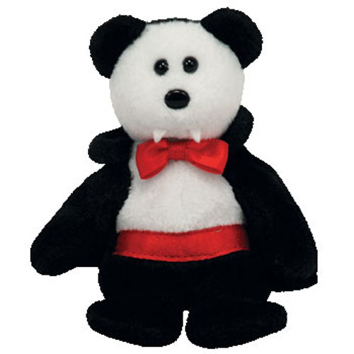 MINT with MINT TAGS TY VAN PYRE the BEAR HALLOWEENIE BEANIE BABY
