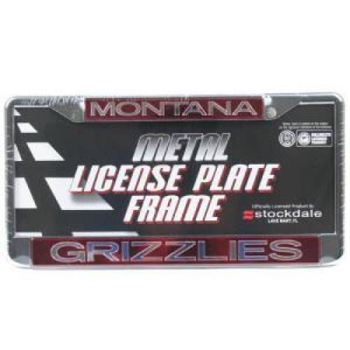 Montana Grizzlies Metal Inlaid Acrylic License Plate Frame