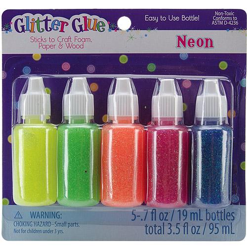 Glitter Glue .7 oz, 5pk