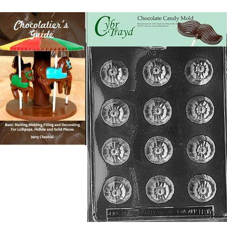 Cybrtrayd Pumpkin Bon-Bon Halloween Chocolate Candy Mold with Our Chocolatier's Guide Instructions - Des Bonbons Halloween