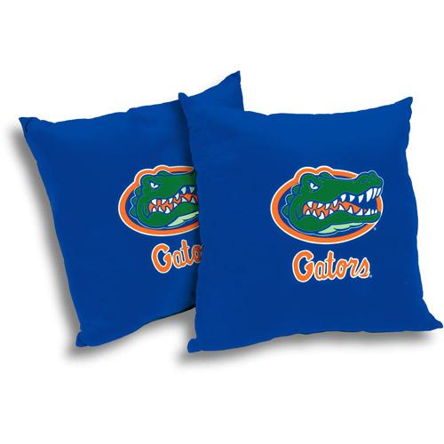 """NCAA Florida Gators 18"""" Pillow, 2-Pack"""