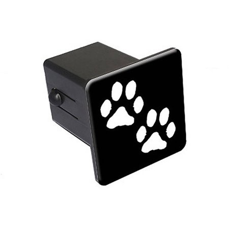 "Paw Prints 2"" Tow Trailer Hitch Cover Plug Insert"