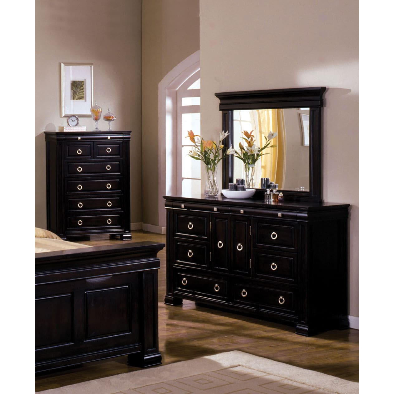 Furniture of America  Claresse Transitional 2-Piece Dresser and Mirror Set