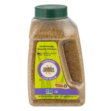 (2 Pack) Florida Crystals: Demerara Cane Natural Sugar, 44 Oz