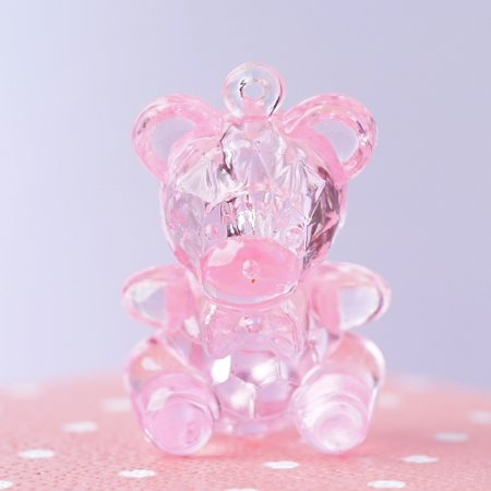 BalsaCircle 144 pcs Plastic Teddy Bears Baby Shower Favors - Care Bear Baby Shower