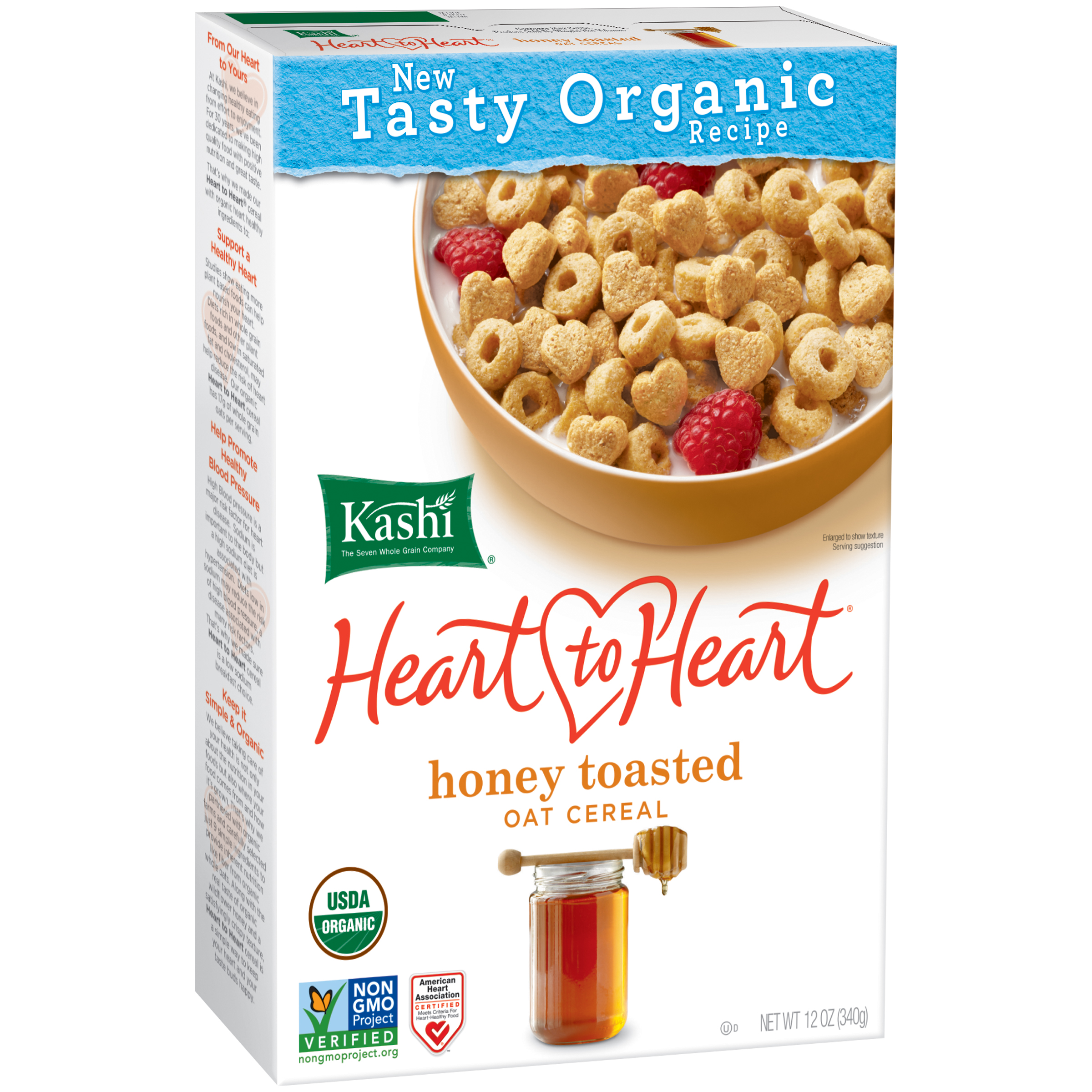 Kashi�� Heart to Heart�� Organic Honey Toasted Oat Cereal 12 oz. Box
