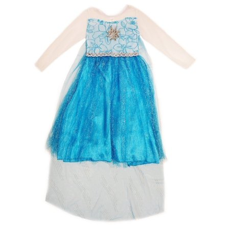 Wenchoice Girls Blue Glitter Princess Elsa Halloween Dress](Frozen Dress Sale)