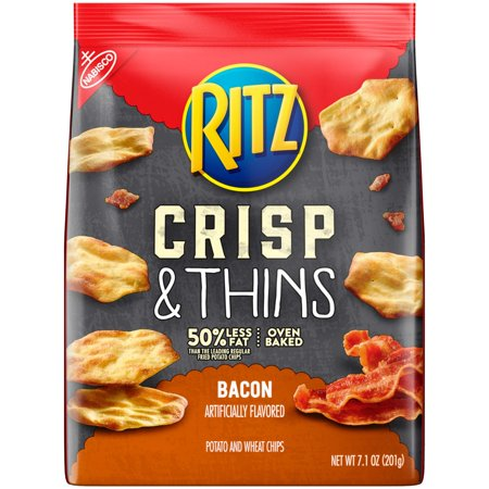 - Ritz Crisp & Thins Bacon flavor Chips, 7.1 Ounce