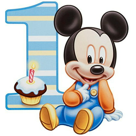 Baby Mickey Mouse One Year 1st Birthday Edible Image Photo