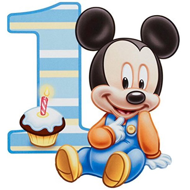 Terrific Baby Mickey Mouse One Year 1St Birthday Edible Frosting Image 1 4 Birthday Cards Printable Trancafe Filternl