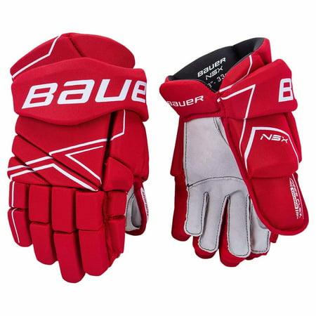 Bauer S18 NSX SENIOR Hockey Gloves - Ergo Flex Thumb, Nash Palm with Overlay Pro Senior Hockey Gloves