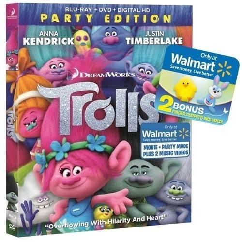 Trolls (Party Edition) (Blu-ray + DVD + Digital HD) (Walmart Exclusive) (Widescreen)