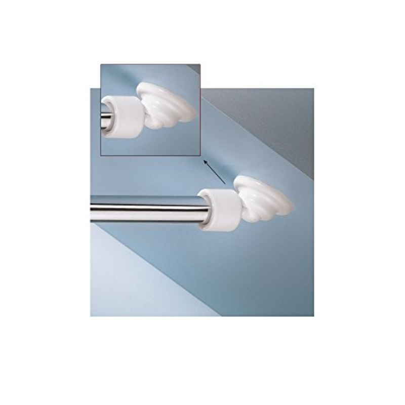Angled Shower Rod Mount For Sloped Walls Low Cost Solution