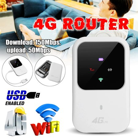 4G LTE Mobile WiFi Wireless Router Hotspot LED Lights Supports 5 Users Portable Router Modem for Car Home Mobile Travel (Best 4g Wifi Modem)
