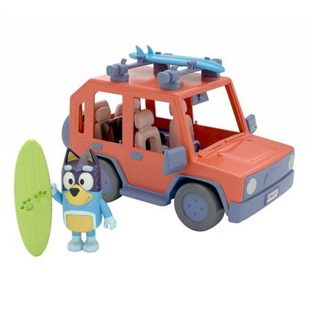 "Bluey - Heeler 4WD Family Vehicle - Four 2.5-3"" Figures & 1 Car Play Vehicle"