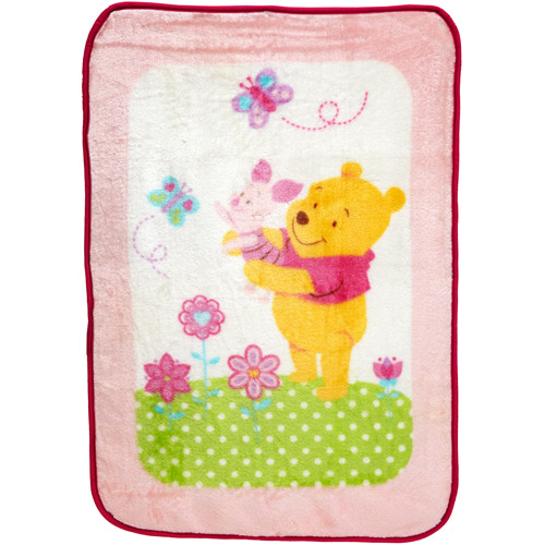 Disney Baby Bedding Pooh Sweet as Hunny Luxury Plush Blanket