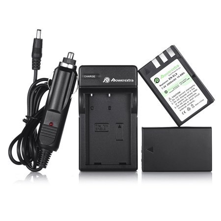 Powerextra 2-Pack EN-EL9 2000mAh 7.4v Replacement Battery + Battery Charger for Nikon D40 D40x D60 D3000 D5000 Digital Battery 2 Pack 2000mah Battery