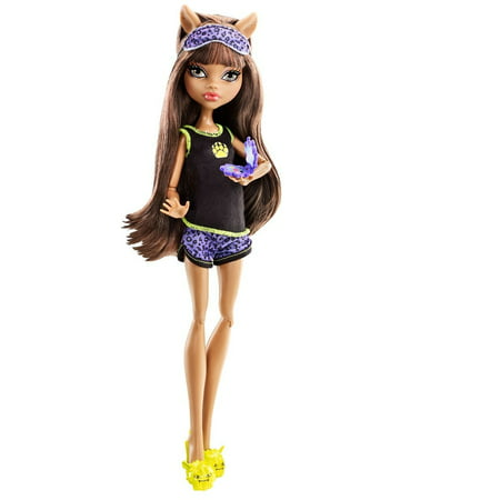 Dead Tired Clawdeen Wolf Doll, Get together for a sleepover and some scary fun ghoul time By Monster High - Monster High Sale