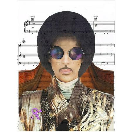 Artist Formally Known As Prince (Art N Wordz Artist Formally Known as Prince Original Music Sheet Pop Art Wall or Desk Art Print)