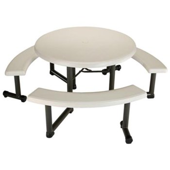 Lifetime Round Picnic Table with 3 Benches