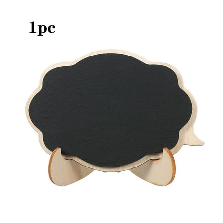 3D Mini Thicker Black Chalkboards Wooden Small Message Board Signs for Weddings Party Decoration with Easel Stand 1/10pcs](Small Chalk Boards)
