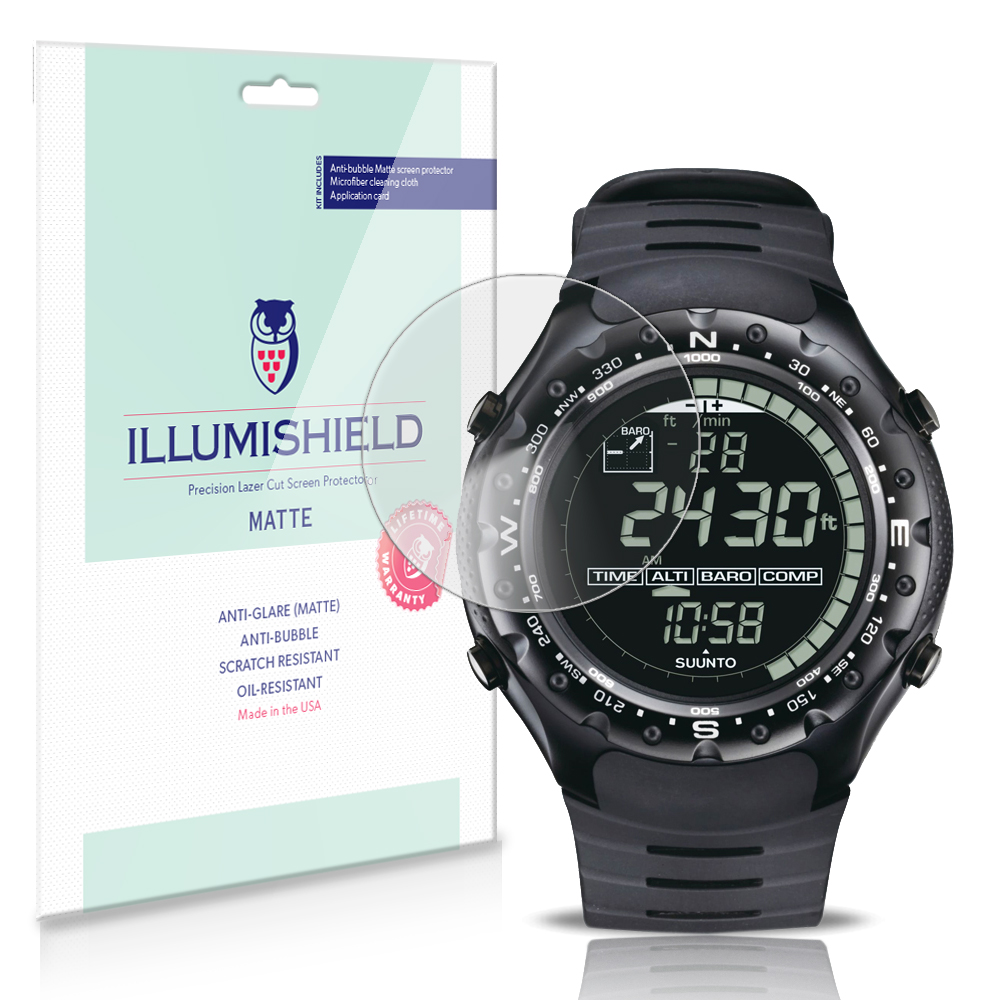 iLLumiShield Anti-Glare Screen Protector 3x for Suunto X-Lander Military Watch by iLLumiShield
