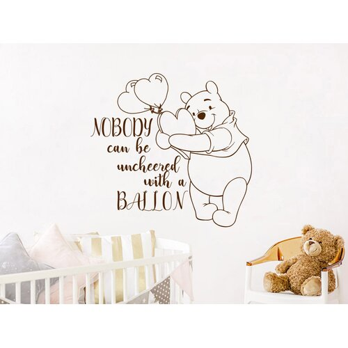 Decal House Winnie the Pooh Quotes Heart Balloon Wall Decal