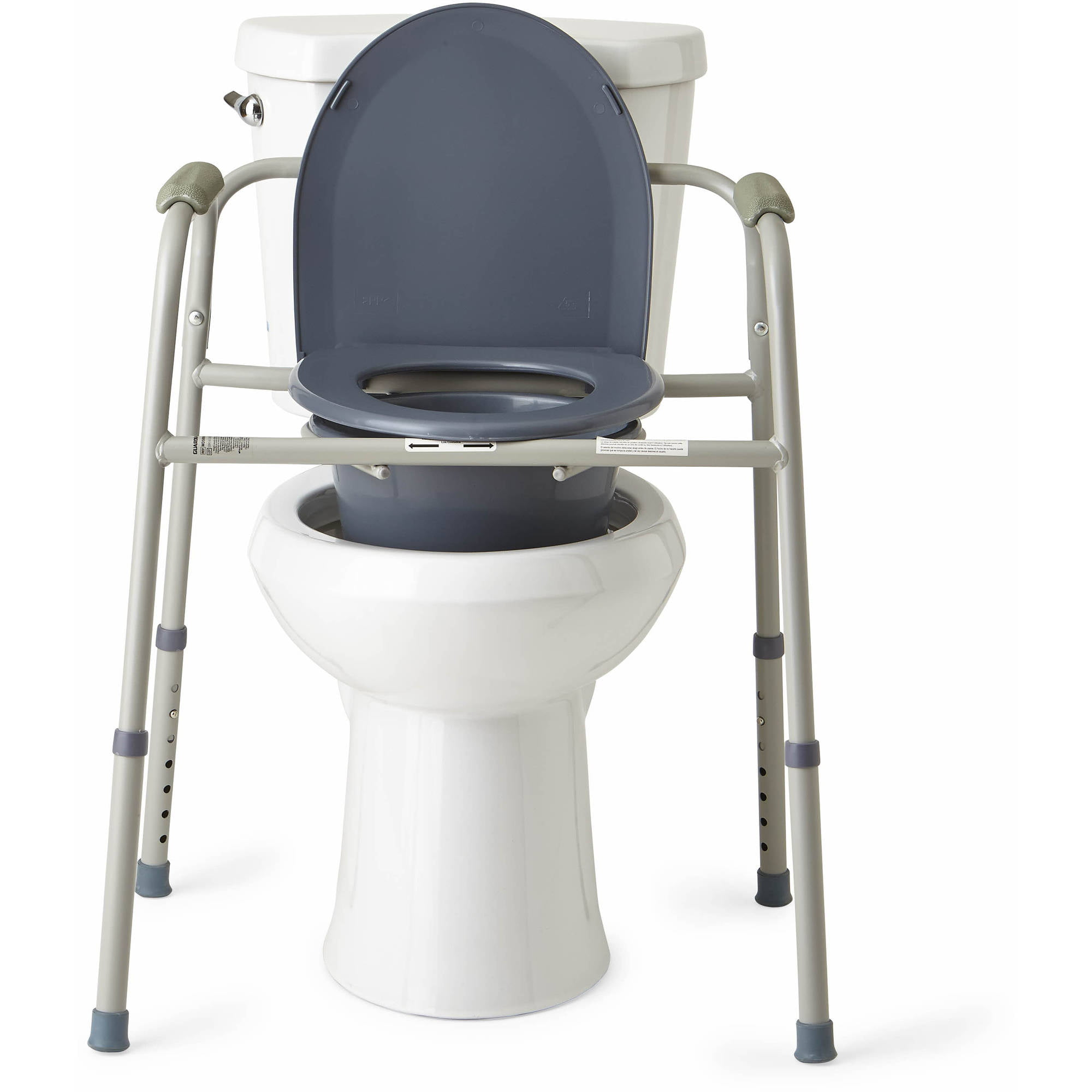 Medline Steel 3 In 1 Bedside Toilet Commode