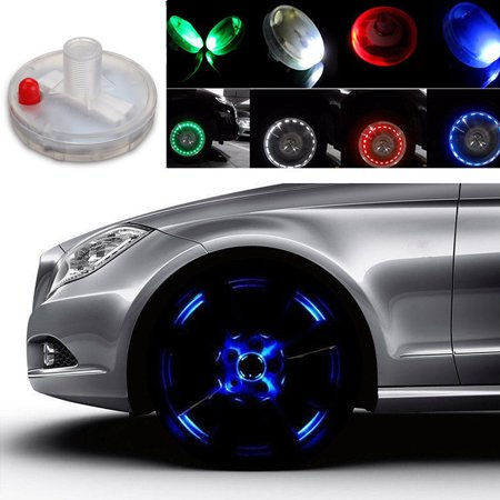 13 Modes Solar Energy Car Bike Motorcycle LED Flash Solar Wheel Tire Tyre Valve Cap Light Neon Light Lamp 4 Color](Light Up Tire Caps)