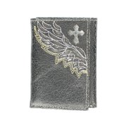 Nocona Western Wallet Mens Leather Trifold Cross Wings Black N5471401