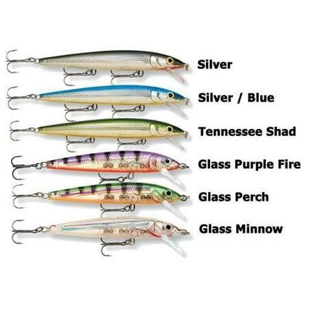Herky Jerky - Rapala Husky Jerk 06 Fishing Lure (Glass Minnow) Multi-Colored