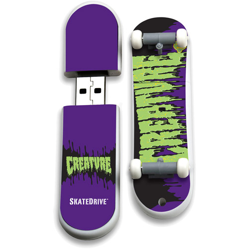 Action Sport Drives 16GB Creature USB Skate Drive, Toxic