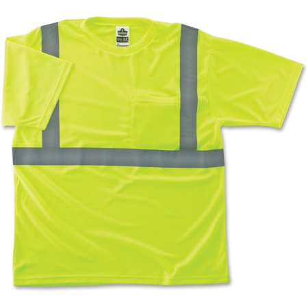 Glowear Class 2 Reflective Lime T-shirt Impact Hi Visibility