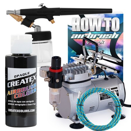 PointZero Airbrush Hobby Airbrush Starter Kit with Black