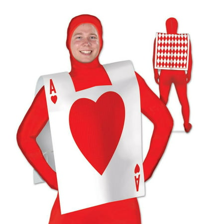 Alice In Wonderland Costume Age 10 (Club Pack of 12 Alice in Wonderland Red and White Ace of Hearts Full Size Vest)