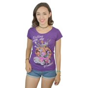 Looney Tunes Rolling With My Homies Characters Graphic Women's Purple T-shirt