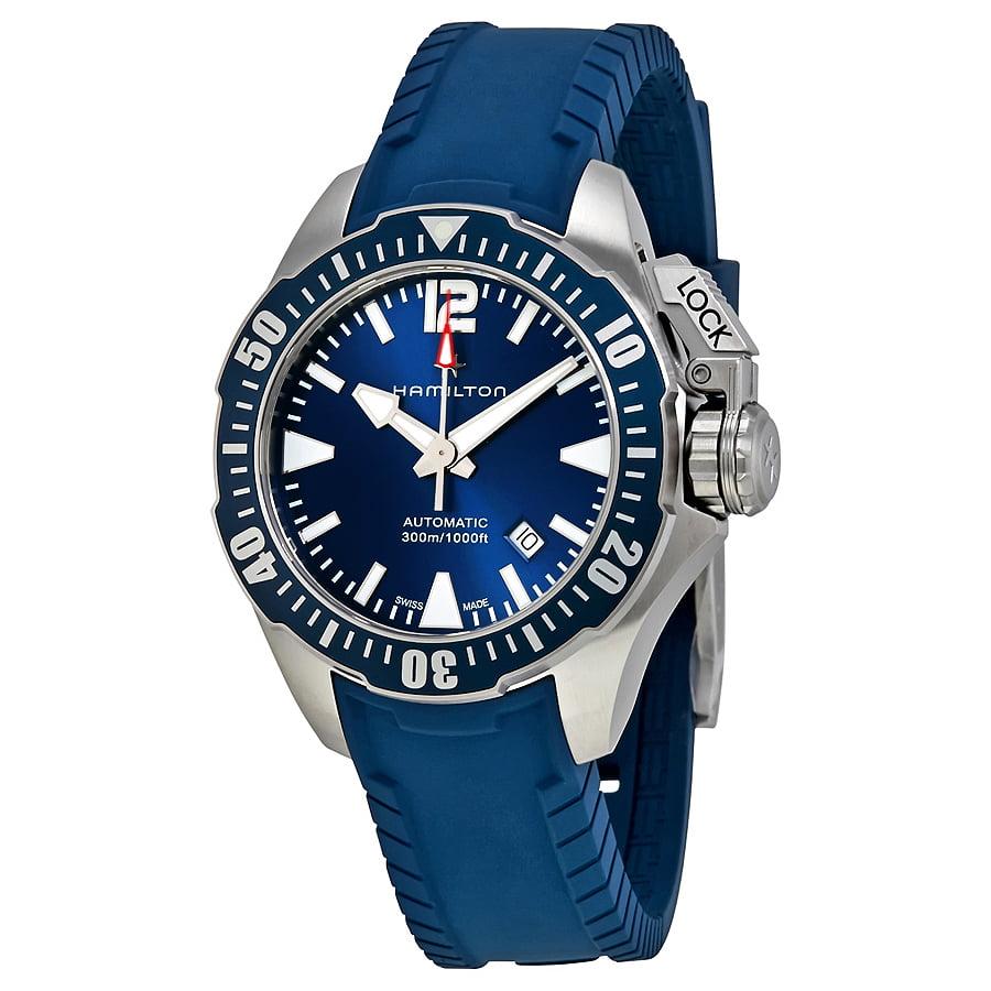Hamilton Khaki Navy Frogman Automatic Blue Dial Mens Watch H77705345 by Hamilton