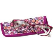 Foster Grant Women's Gwennie Reading Glasses, Purple