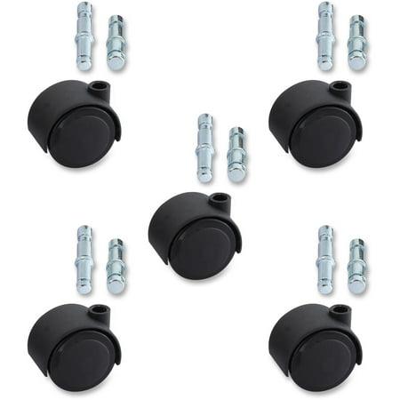 Lorell, LLR33446, Premium Dual Soft Wheel Casters Set, 5 / Set, - Master Superball Caster