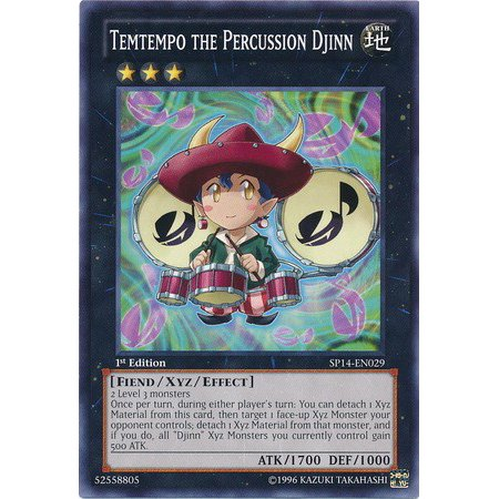 YuGiOh Star Pack 2014 Temtempo the Percussion Djinn SP14-EN029
