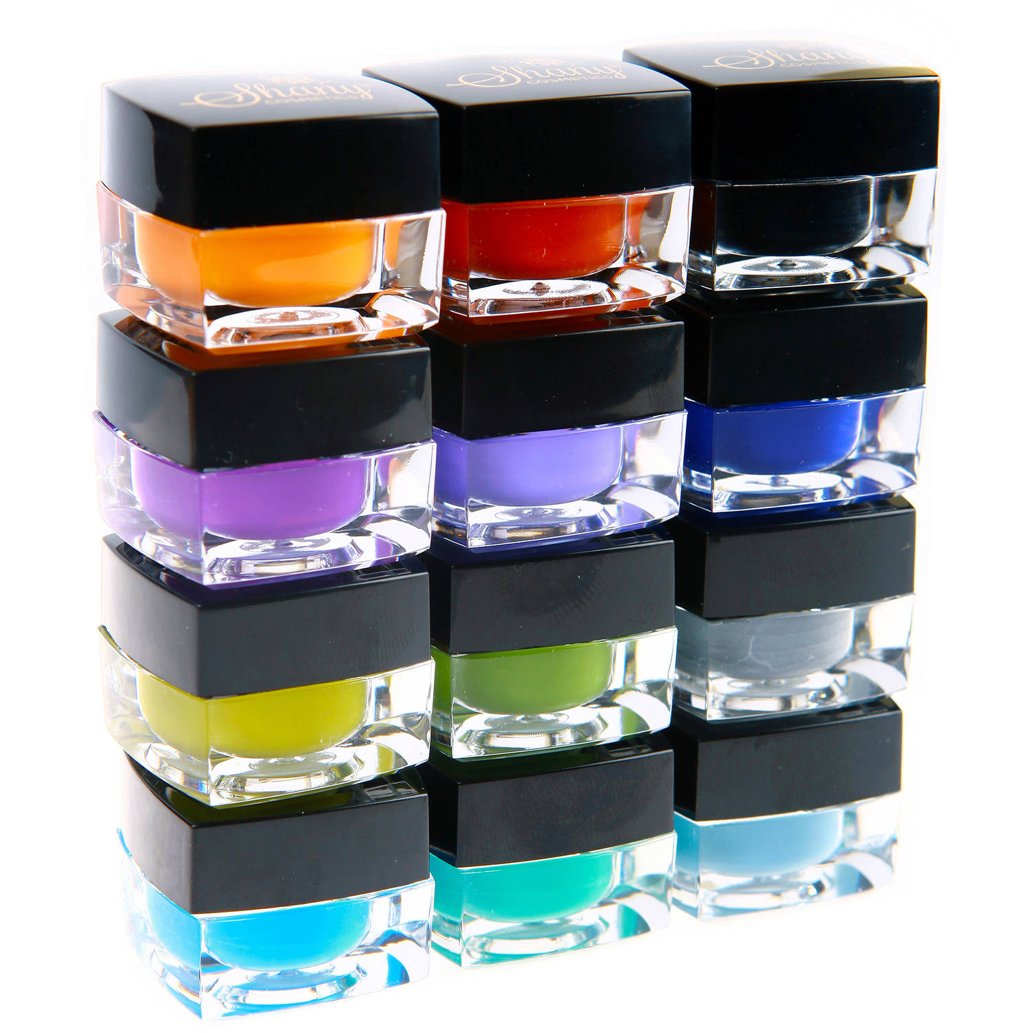 SHANY Smudge Proof Colored Masquerade Gel Eyeliner Set, 12 pc