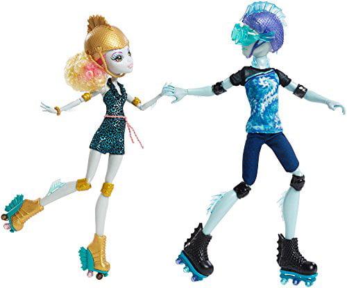 Monster High Lagoona Blue and Gil Weber Wheel Love, Doll 2-Pack by Mattel