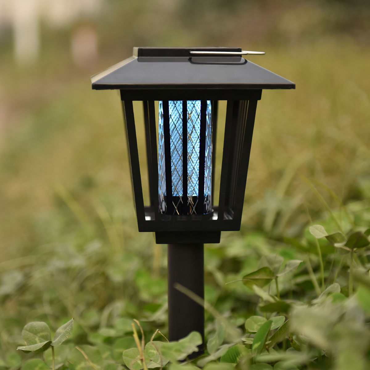 Costway Mosquito Insect Zapper Accent Kill bugs killer with Solar LED Garden Light Lamp by Costway